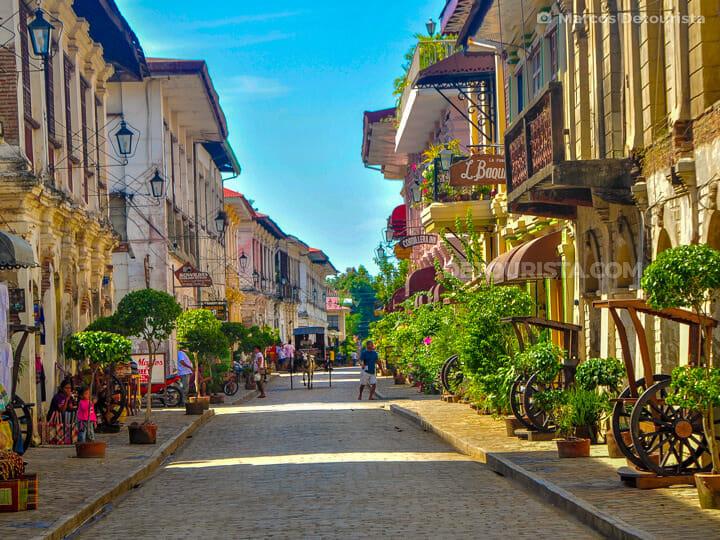 Calle Crisologo in Vigan, Ilocos Sur, Philippines