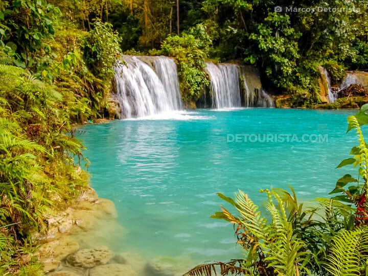 Cambugahay Falls in Siquijor, Philippines