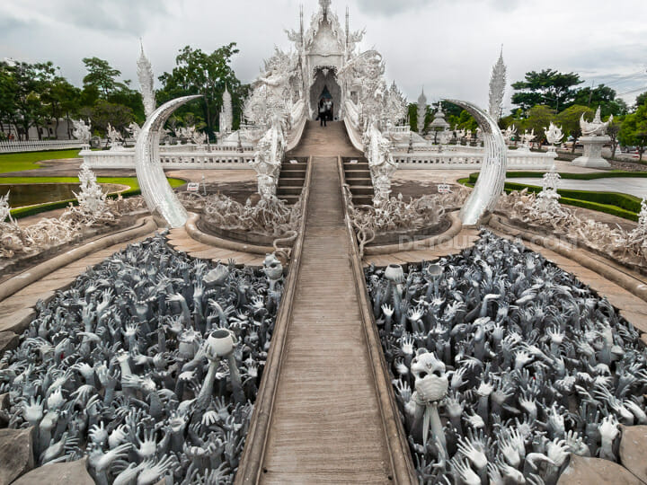 Wat Rong Khun (White Temple), in Chiang Rai, Thailand