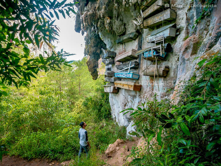 Hanging coffins at Echo Valley, Sagada, Mountain Province, Phili
