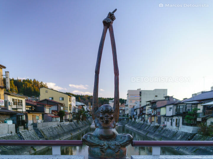 Kajibashi Bridge in Takayama, Gifu, Japan