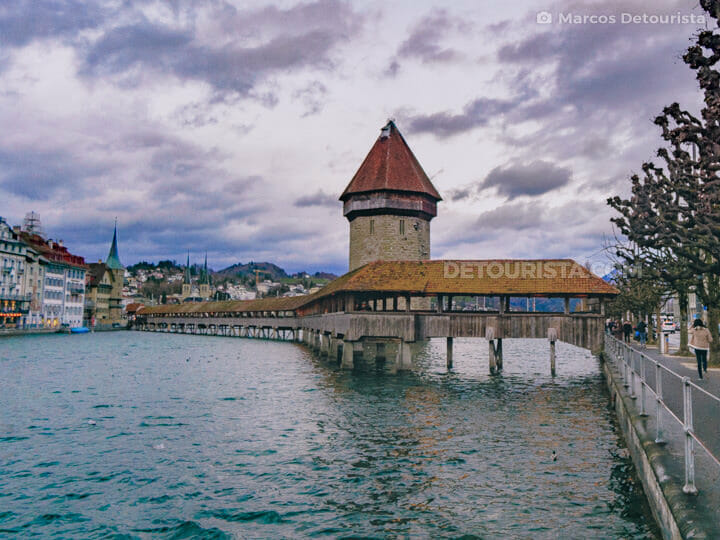 Kapellbrücke (Chapel Bridge) in Lucerne, Switzerland