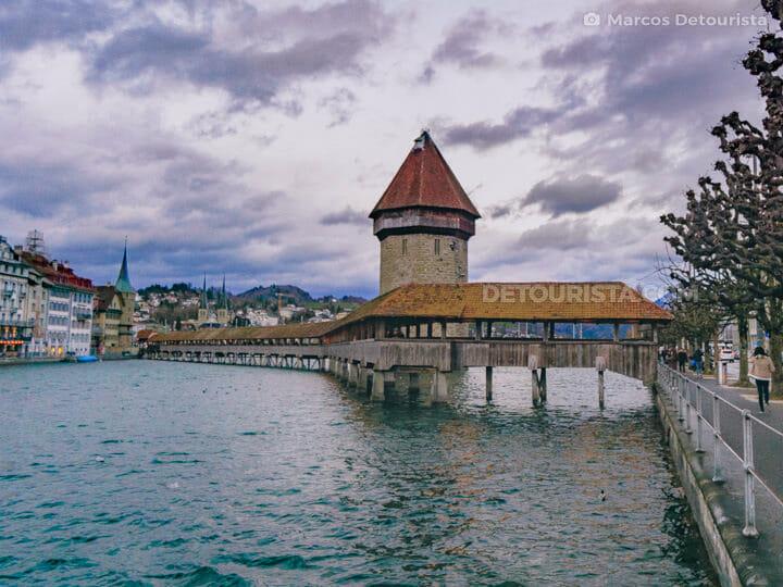 Kapellbrücke (Chapel Bridge) in Lucerne, Switzerland