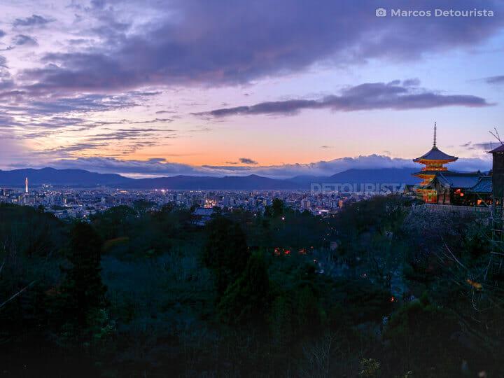 Kiyomizudera Temple view overlooking Kyoto