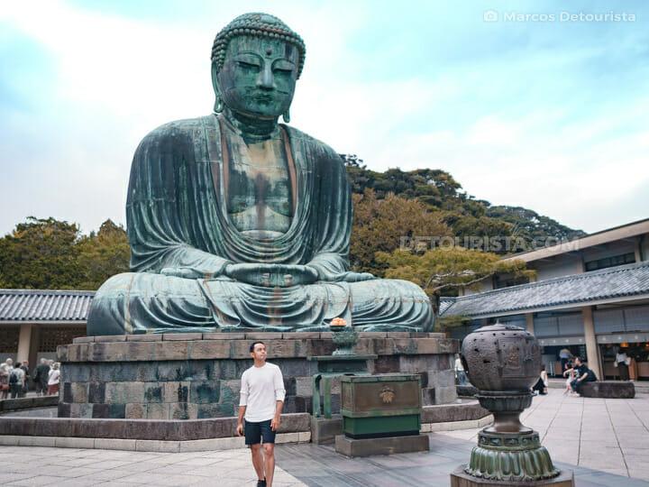 Marcos at Kotoku-in Temple in Yokohama, Japan
