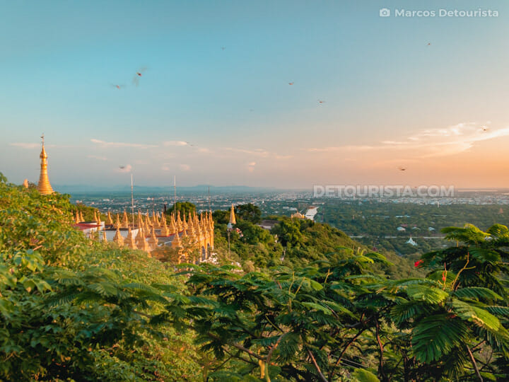 Mandalay Hill sunset view, Myanmar