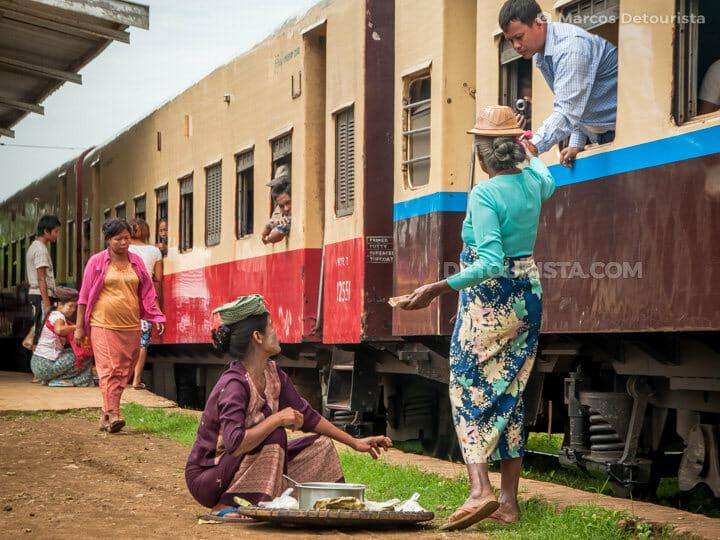 Mandalay to Hsipaw train, Myanmar
