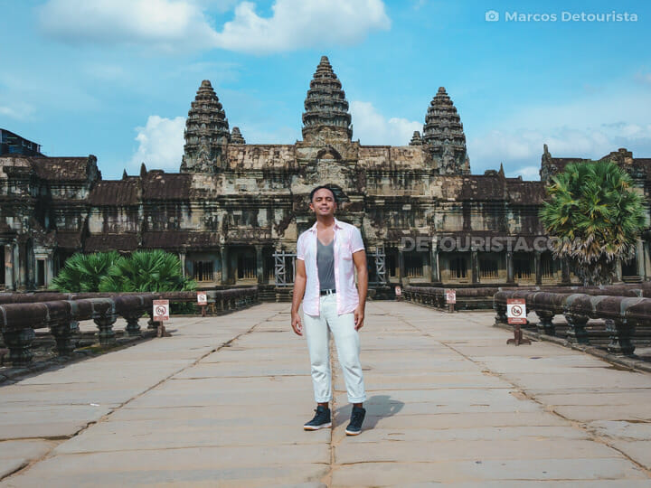 Marcos at Angkor Wat (temple) in Siem Reap, Cambodia