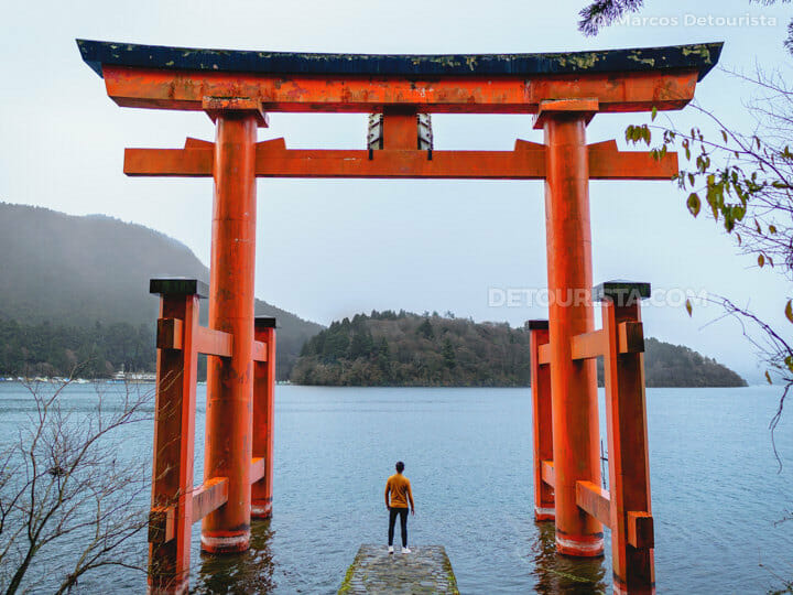 Marcos at Hakone Shrine, Lake Ashinoko