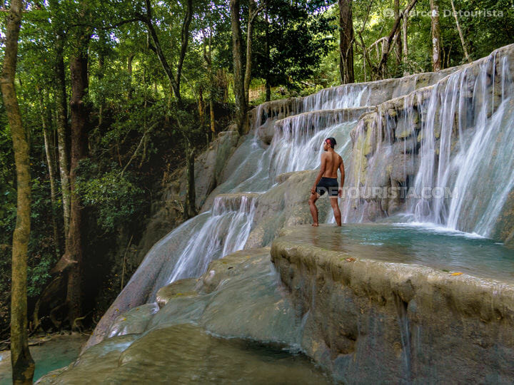 Marcos at Kaparkan Falls, in Tineg, Abra, Philippines