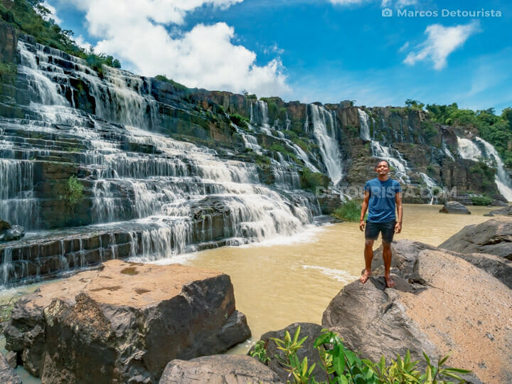 Marcos at Pongour Waterfall