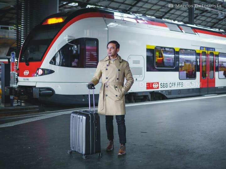 Marcos at Zurich train station, Switzerland