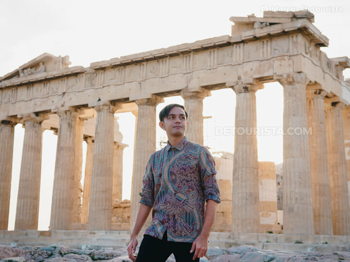 Marcos at the Parthenon, Athens