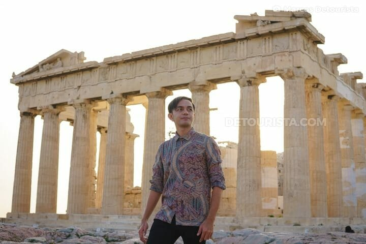 Marcos at the Parthenon