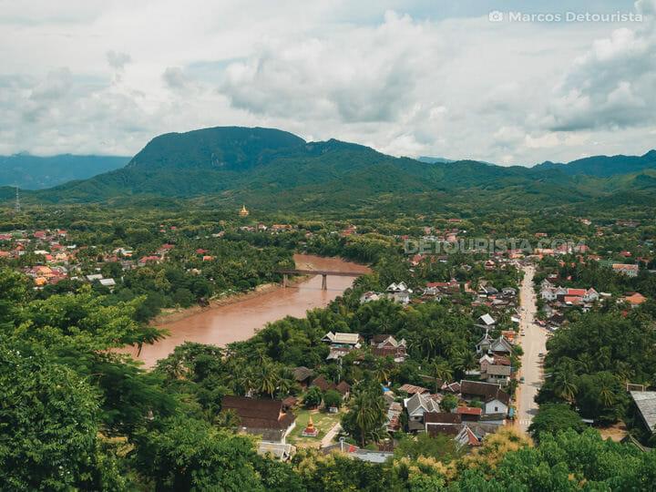 Mount Phousi view overlooking Luang Prabang, Laos