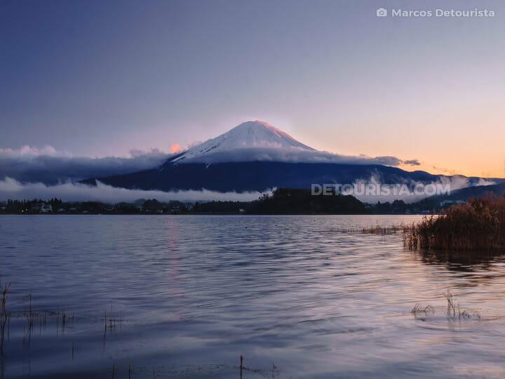 Mt Fuji view from Lake Kawaguchi, in Yamanshi, Japan