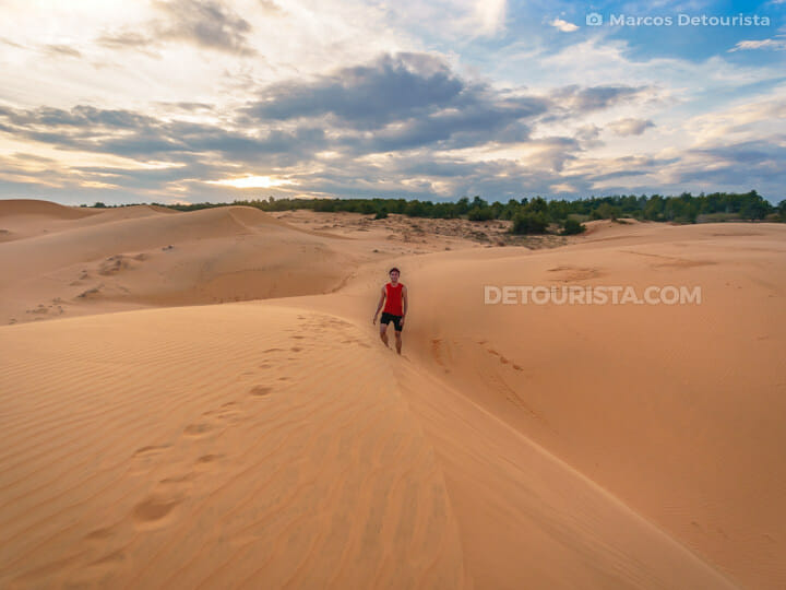 Red Sand Dunes in Mui Ne, Vietnam
