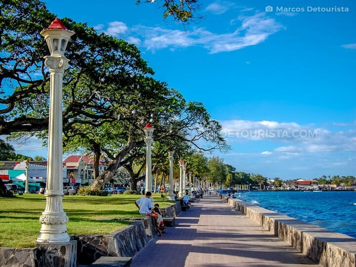 Rizal Boulevard in Dumaguete City, Negros Oriental, Philippines