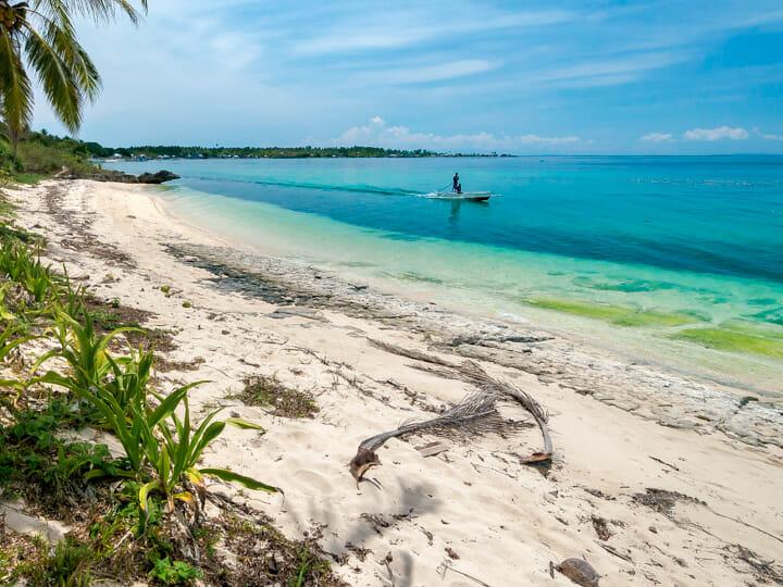 Sibato Island white-sand beach in Sibato Island, Caluya, Antique, Philippines