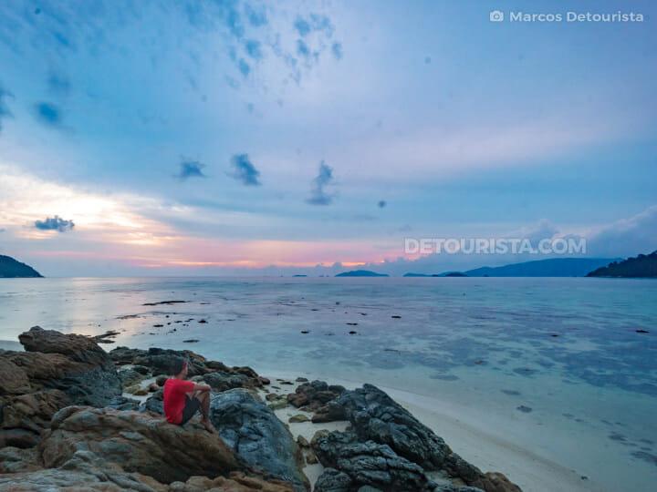 Sunset Beach in Ko Lipe, Satun, Thailand