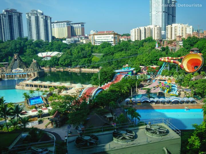 Sunway Lagoon Theme Park (Sunway Surf Beach on the left and the Vuvuzela on the right), near Kuala Lumpur, Malaysia