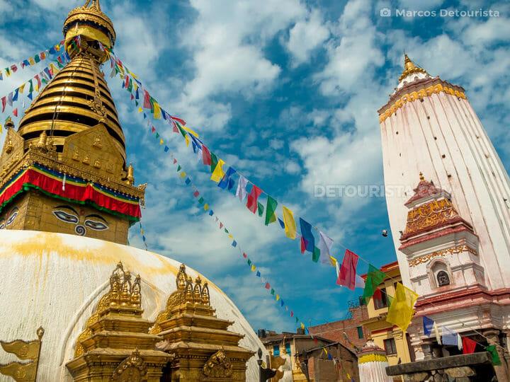 Swayambhunath Temple, in Kathmandu, Nepal