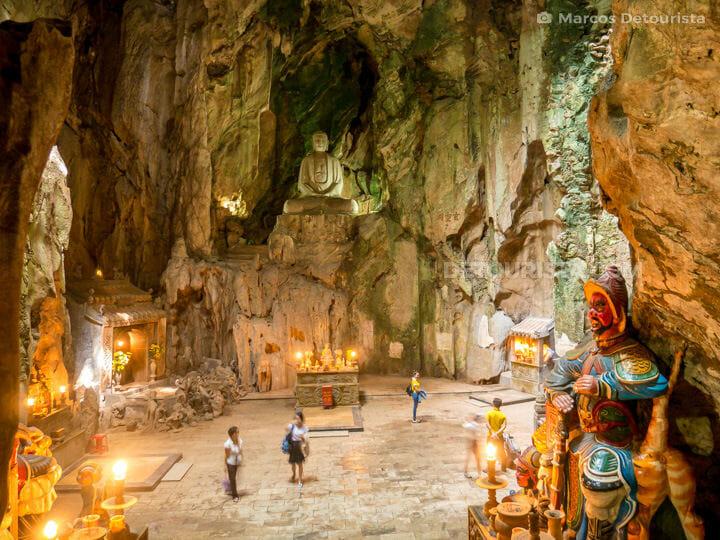 Cathedral-like Huyen Khong Cave, Marble Mountains in Da Nang, Vietnam