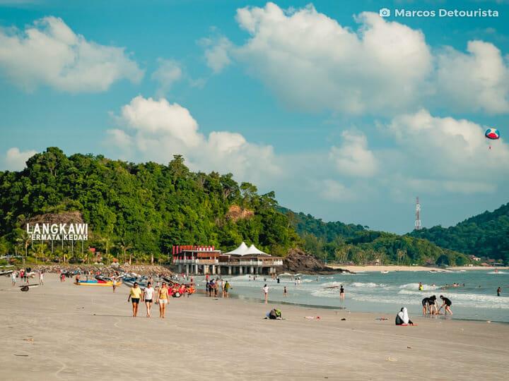 Cenang Beach (Pantai Cenang) in Langkawi, Malaysia
