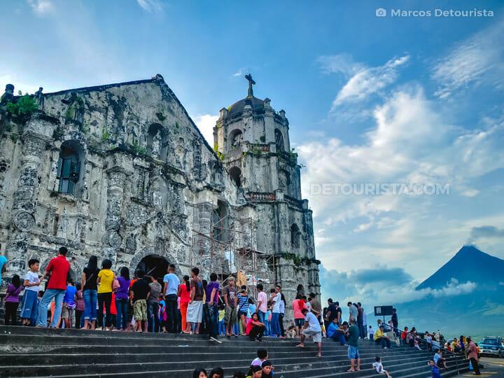 Daraga Church & Mayon Volcano view from Daraga, near Legazpi Cit