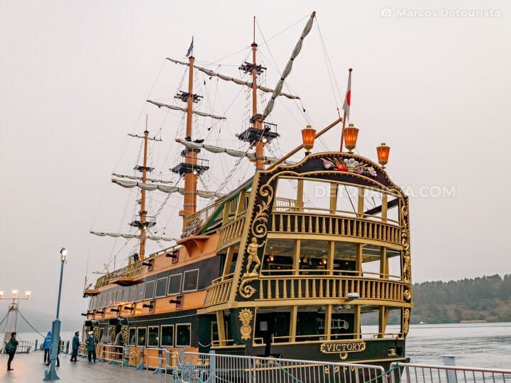 Hakone Sightseeing Cruise pirate ship, in Lake Ashinoko, Hakone