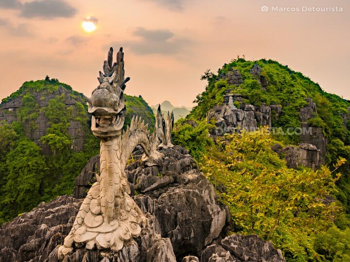 Dragon Statue at Hang Mua Peak (Mua Caves Viewpoint), in Ninh Binh, Vietnam