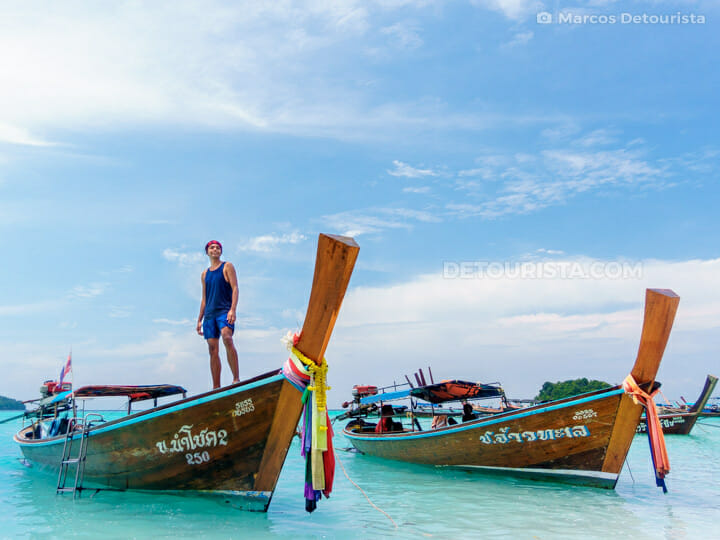 Marcos at Sunrise Beach in Ko Lipe, Satun, Thailand