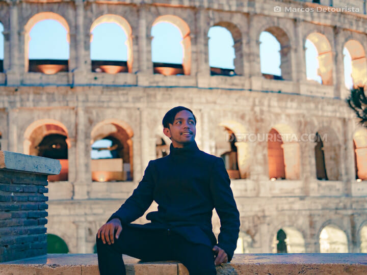Marcos at the Colosseum in Rome, Italy