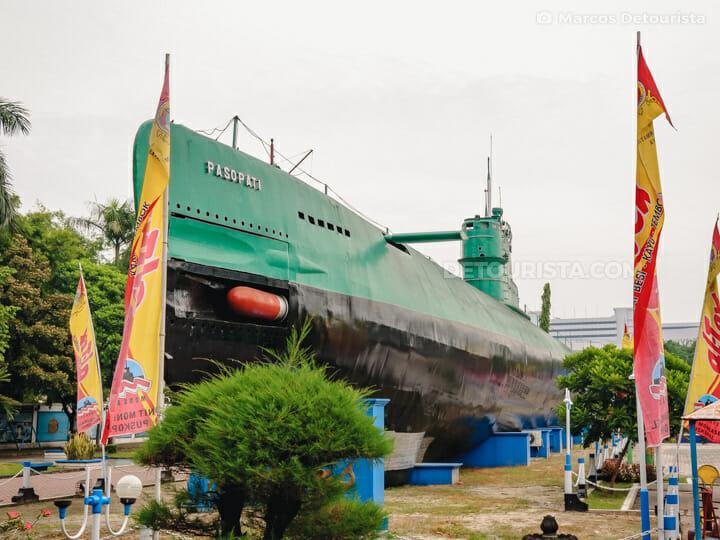 Monkasel Submarine Monument (Monumen Kapal Selam) in Surabaya, East Java, Indonesia
