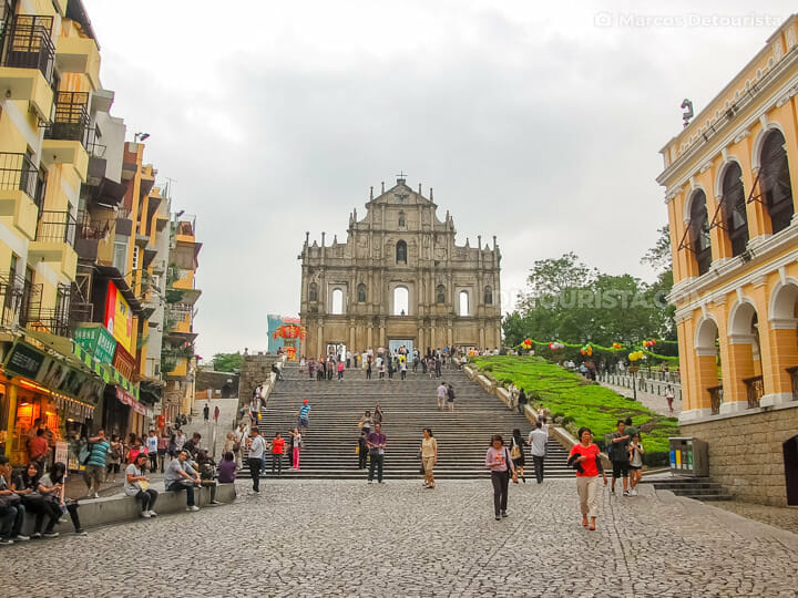 Ruins of Saint Paul Cathedral in Macau's Portuguese-colonial dis