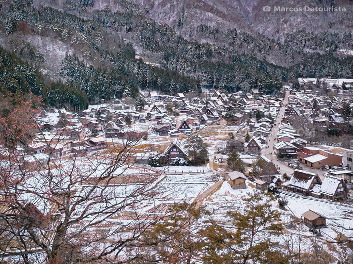 Shirakawa-go village view from Shiroyama viewpoint