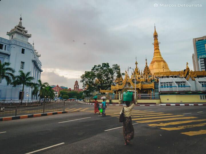 Sule Pagoda in Yangon, Myanmar