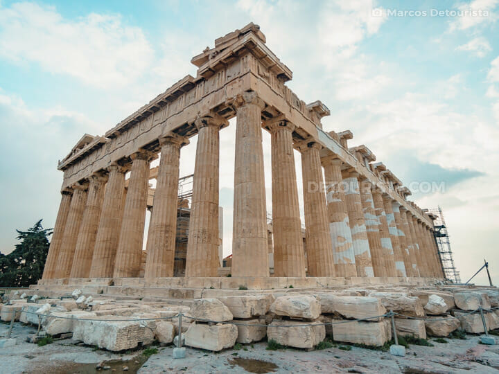 The Parthenon in Acropolis Hill, Athens