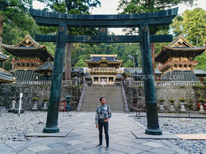 Marcos at Toshogu Shrine in Nikko, Japan