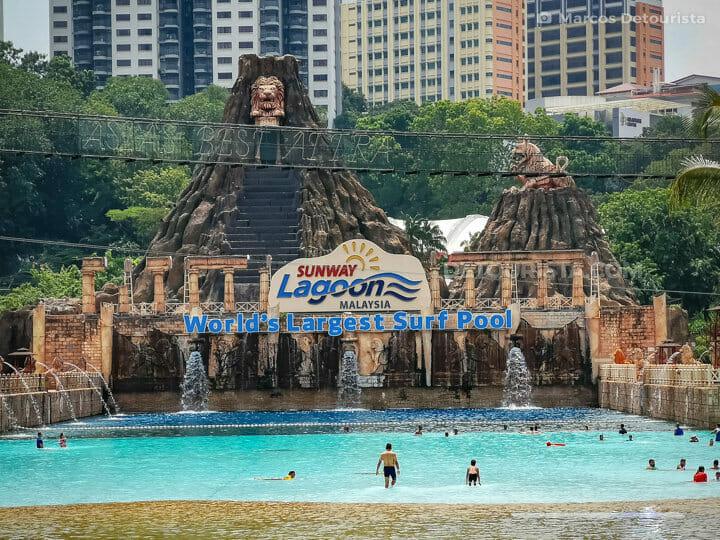 World's largest surf pool at Sunway Lagoon near Kuala Lumpur, Malaysia