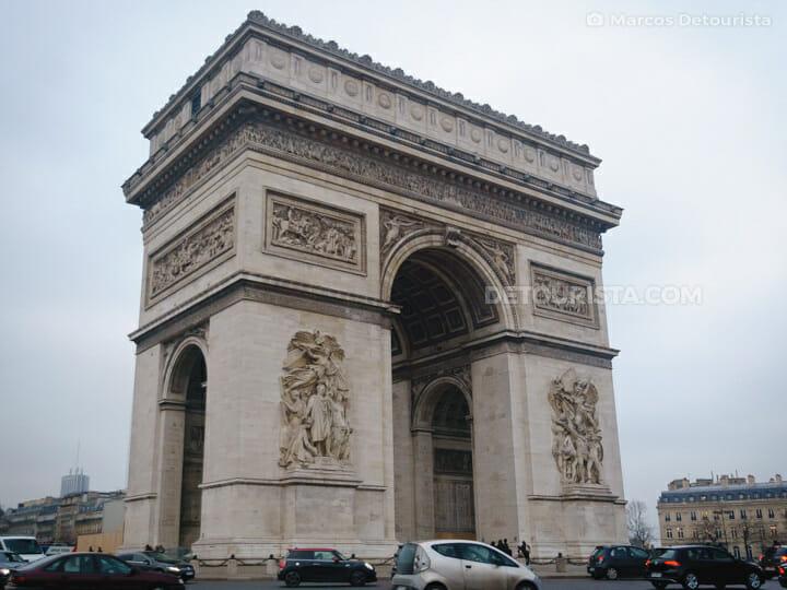 Arc de Triomphe, in Paris