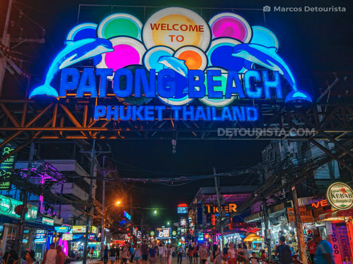 Bangla Road (Bangla Walking Street) in Phuket, Thailand