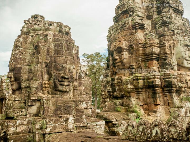 Bayon Temple, in Angkor, Siem Reap, Cambodia