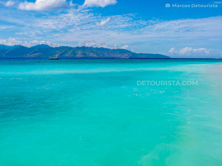 Gili Trawangan blue waters