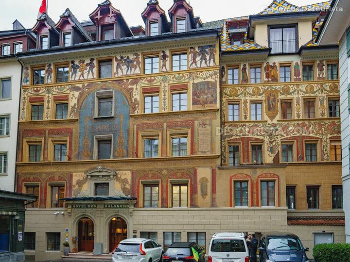 Hotel Des Balances in Lucerne Old Town, Switzerland