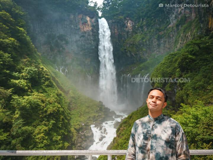 Marcos at Kegon Falls in Nikko, Japan