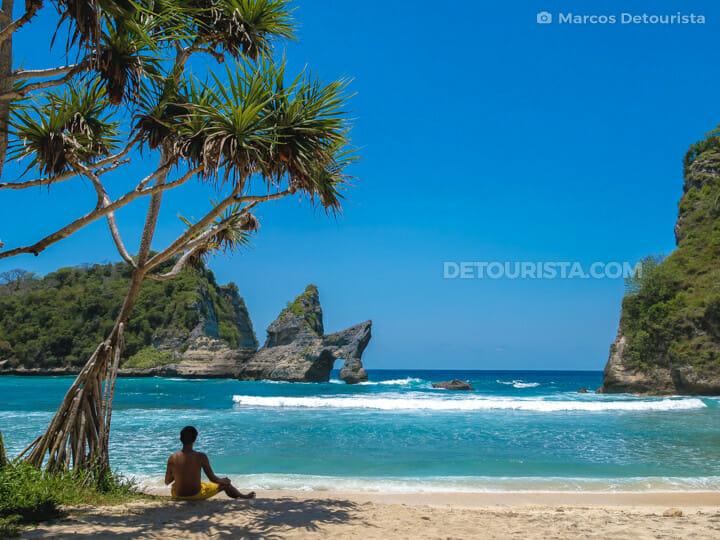 Marcos at Nusa Penida Island - Atuh Beach, Klungklung, Bali, Indonesia