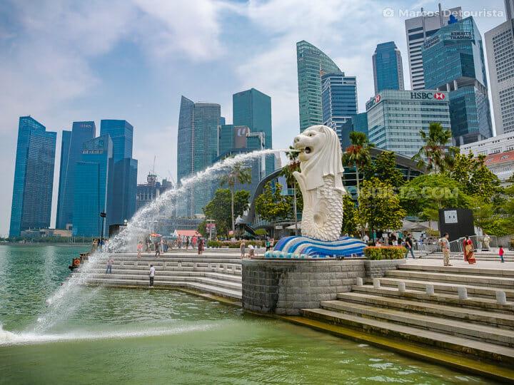 Merion Park and Singapore CBD Skyline