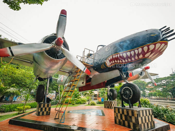 Monumen Pesawat Bomber B-26 Intruder in Surabaya, East Java, Indonesia