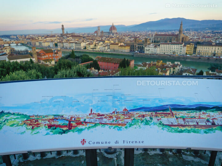 Piazzale Michelangelo in Florence, Italy